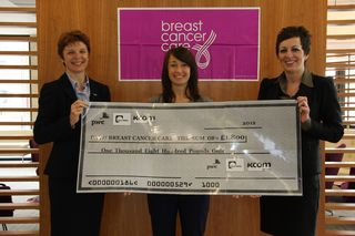 Breast cancer care cheque