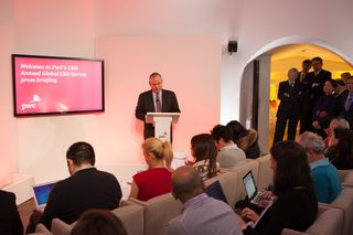 CEO Survey press launch, Davos, 2015